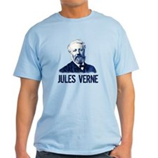 Jules Verne in Blue T-Shirt