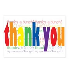 Rainbow Thank You Greeting Postcards (Package of 8