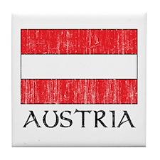 Austria Flag Tile Coaster