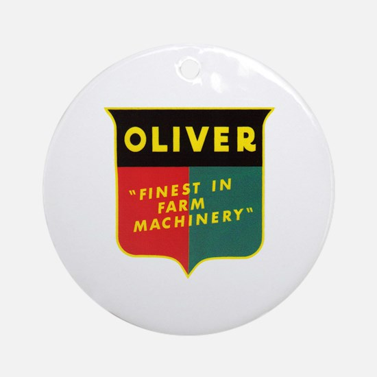 Oliver Tractor Ornament (Round)