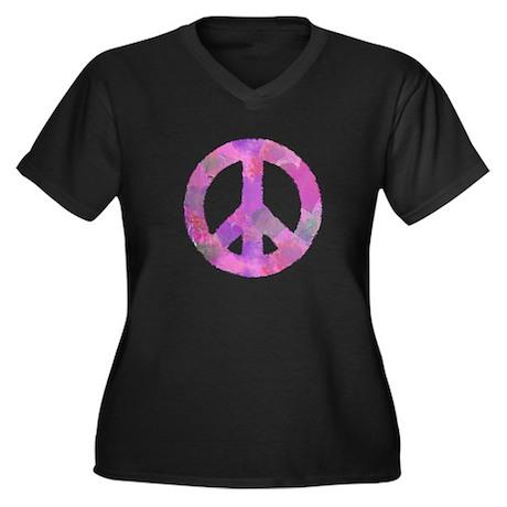 PURPLE HEART PEACE SIGN Plus Size T-Shirt