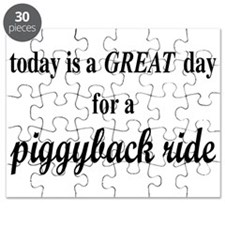 Great Day For A Piggyback Ride Puzzle