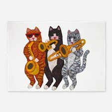 Cat Brass Section 5'x7'Area Rug