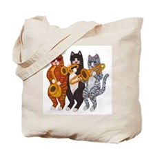 Cat Brass Section Tote Bag