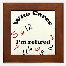 Cute Funny retirement Framed Tile