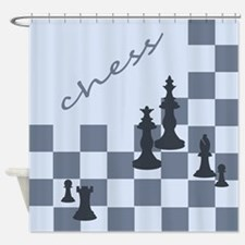Chess King and Pieces Shower Curtain
