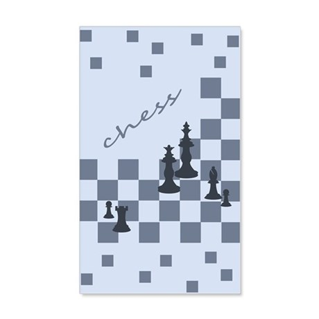 Chess King and Pieces Wall Decal