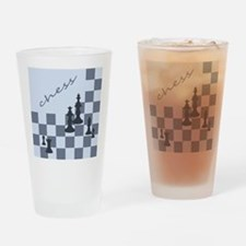 Chess King Pieces Drinking Glass
