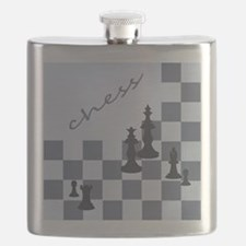 Chess King Pieces Flask