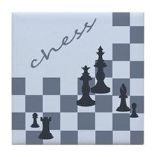 Chess King Pieces Tile Coaster