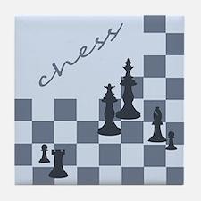 Chess King Pieces Tile Coaster