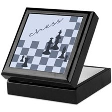 Chess King Pieces Keepsake Box