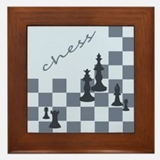 Chess King Pieces Framed Tile