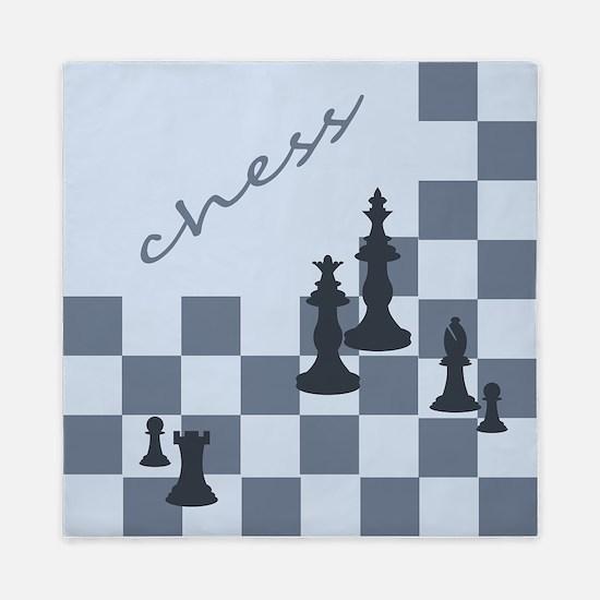Chess King Pieces Queen Duvet