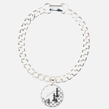 Chess King and Pieces Bracelet