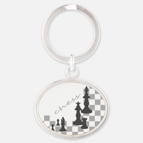 Chess King and Pieces Keychains