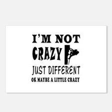 I'm not Crazy just different Rock Climbing Postcar