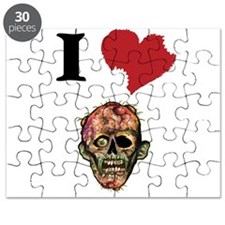 I LOVE ZOMBIES GRAPHIC TEE Puzzle