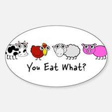 YOU EAT WHAT? Rectangle Bumper Stickers