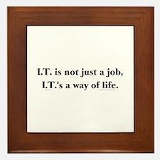 I.T. Not Just... Framed Tile