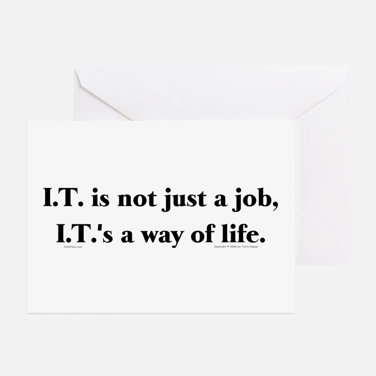 I.T. Not Just... Greeting Cards (Pk of 10)