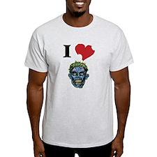 I LOVE ZOMBIES GRAPHIC T-SHIRT T-Shirt