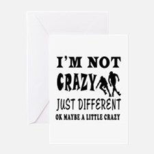 I'm not Crazy just different Roller Skating Greeti