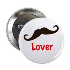 "Mustache Lover T Shirt 2.25"" Button"