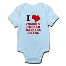 I LOVE ZOMBIES GRAPHIC TSHIRT Body Suit
