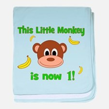 This Little Monkey is Now 1! with Bananas baby bla