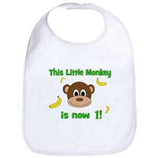 This Little Monkey is Now 1! with Bananas Bib