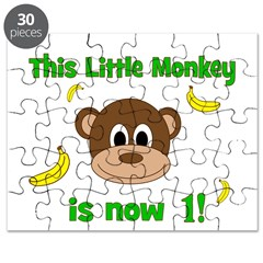 This Little Monkey is Now 1! with Bananas Puzzle