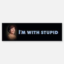 I'm with stupid Bumper Bumper Bumper Sticker