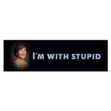 I'm with stupid Bumper Bumper Sticker