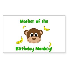Mother of the Birthday Monkey! Decal