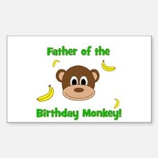 Father of the Birthday Monkey! Decal