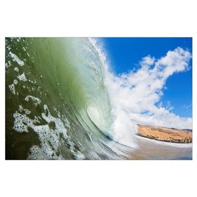 Hawaii, Maui, Maalaea, Wave Breaking At Legendary Poster