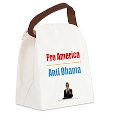 PRO AMERICA ANTI OBAMAM Canvas Lunch Bag