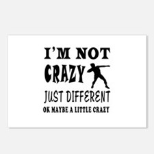 I'm not Crazy just different Shot put Postcards (P