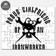Proud Girlfriend of an Ironworker - BLACK Puzzle