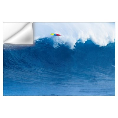 Hawaii, Maui, Peahi, Giant Wave Breaking At Jaws Wall Decal