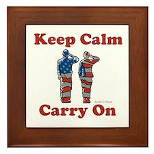 Keep Calm and Carry On Framed Tile