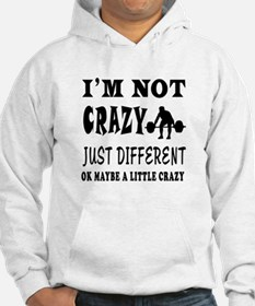 I'm not Crazy just different Weight Lifting Hoodie Sweatshirt