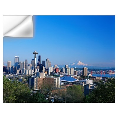 Washington, Seattle Skyline With Space Needle And Wall Decal