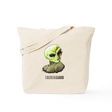 ALIEN FACE ILLUSTRATION ART Tote Bag