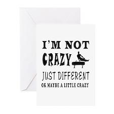 I'm not Crazy just different Gymnastics Greeting C
