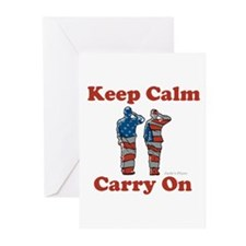 Keep Calm and Carry On Greeting Cards (Pk of 20)