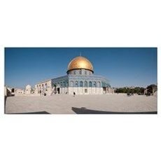 Town square, Dome Of the Rock, Temple Mount, Jerus Poster