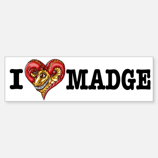 I Heart Madge Bumper Sticker (White)
