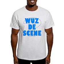 WUZ DE SCENE BLUE T-Shirt